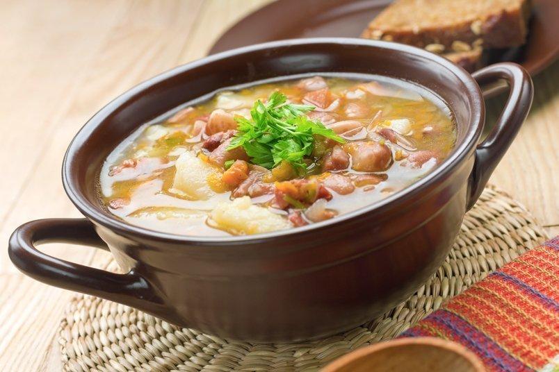 Суп из баранины с перловкойы