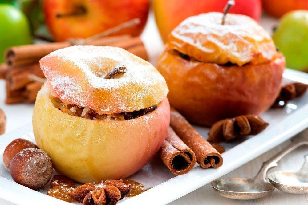 Печеные Яблоки В Диете. Печеные яблоки: низкокалорийный и очень полезный десерт