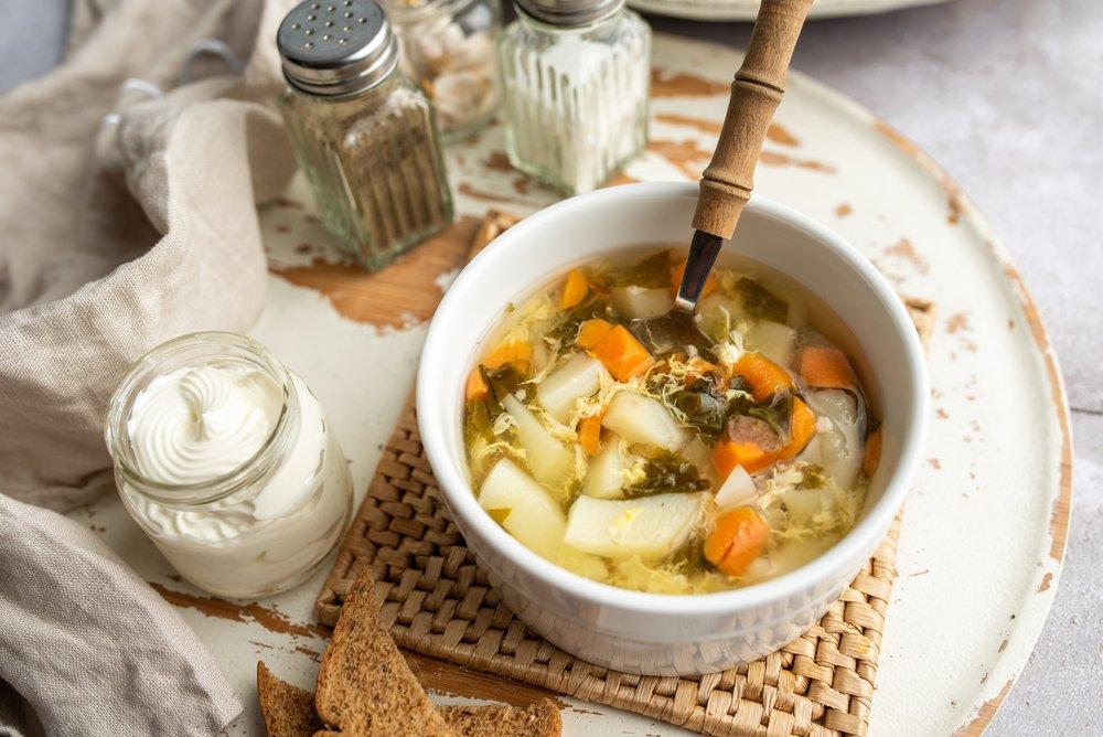 Классический рецепт супа со щавелем