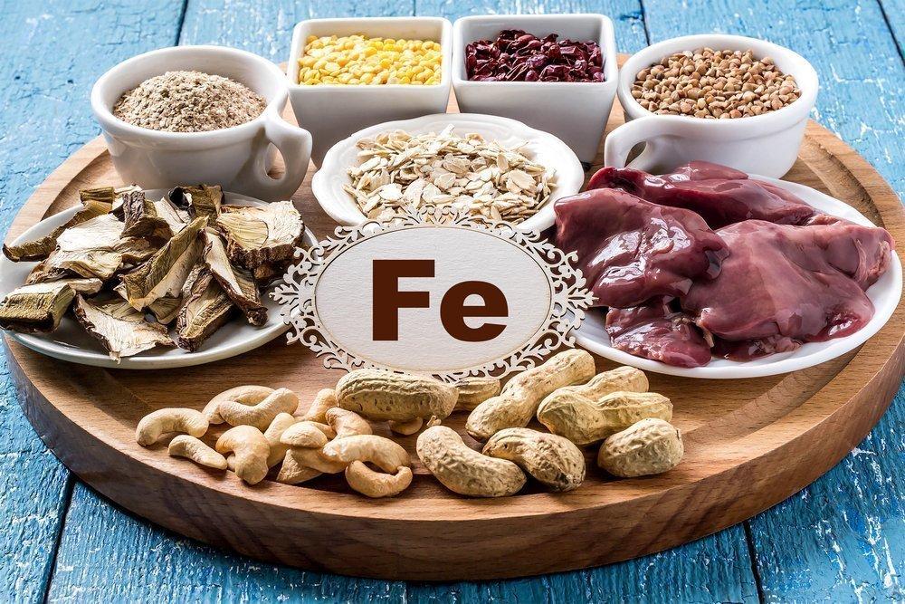 1. Потребление пищи, богатой железом
