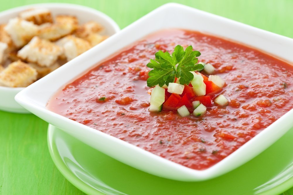 Томатный суп (гаспачо)