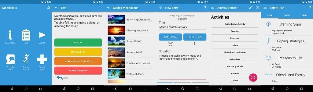 Программа-дневник MoodTools Источник: play.google.com