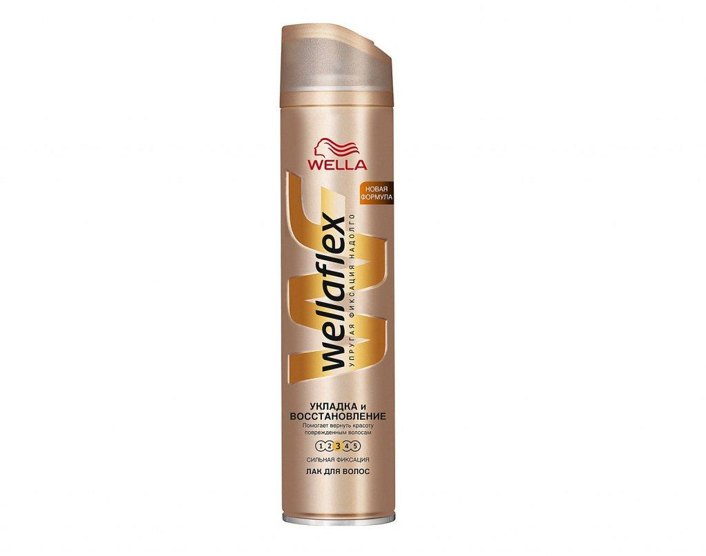 Лак для волос Wellaflex «Укладка и восстановление» Сильная фиксация, 250 мл Источник: wbstatic.net