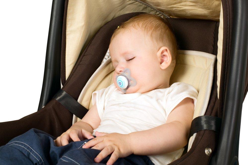 Сон в автокресле, коляске без откидной спинки или шезлонге