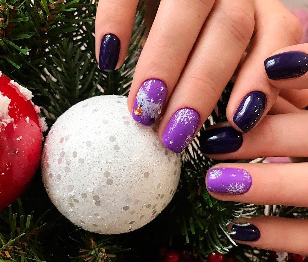 Снежинки, снеговики и другие тематические дизайны Источник: ladylife.style