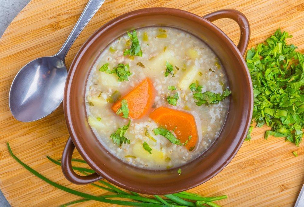 Рисовый суп с мятой