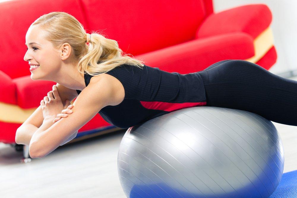 Похудение как результат тренировок с фитболом