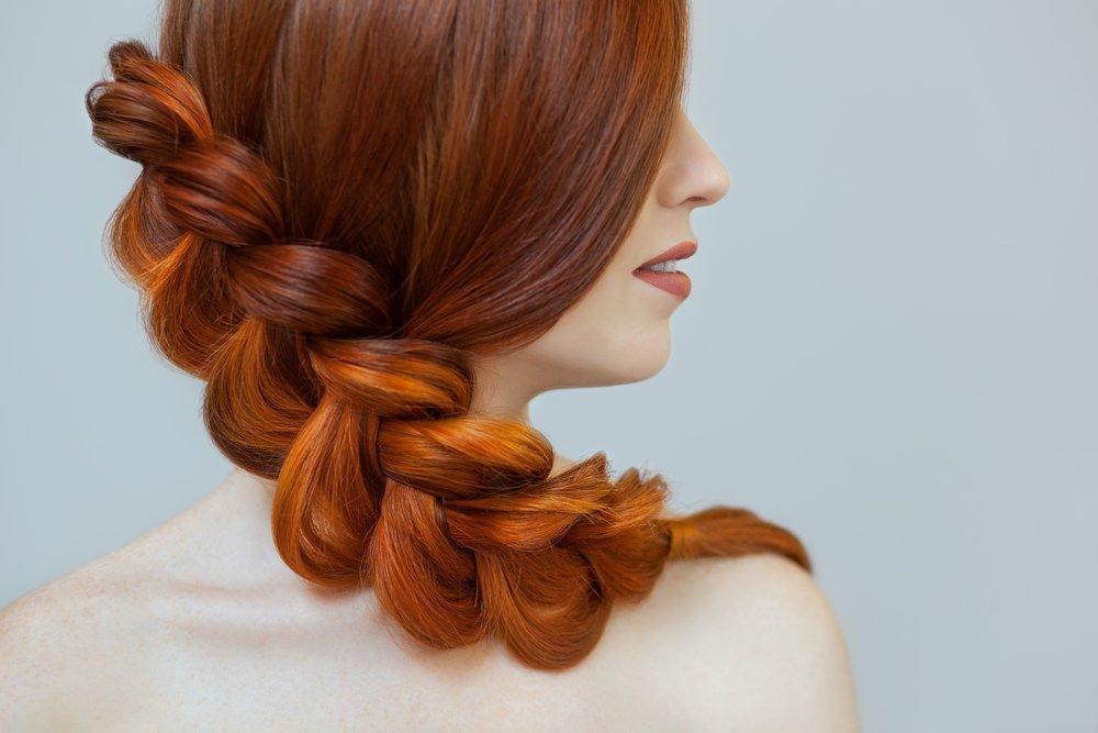 Волосы, заплетенные в косу