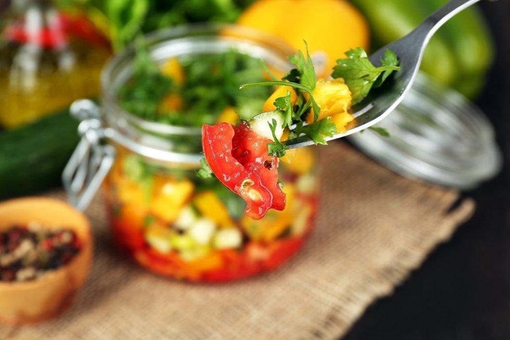 Вегетарианский рецепт Mason с киноа
