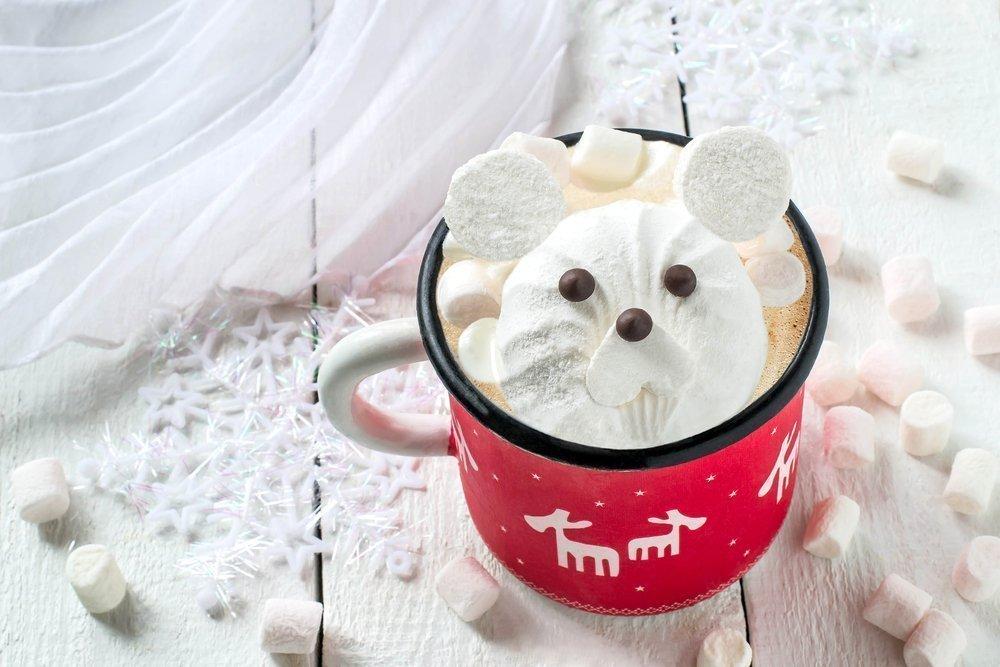 Новогодняя подарочная чашка руками ребенка