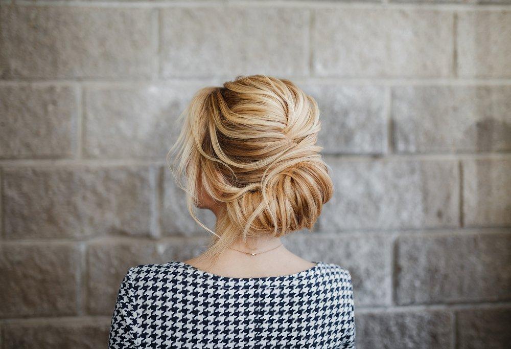 Укладка длинных волос с начесом