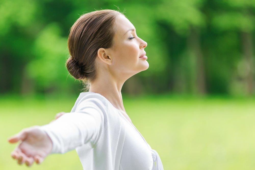 Упражнение для дыхания, используемое в йоге