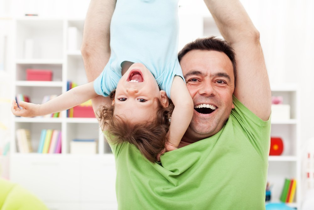 Развитие ребенка важно для отца