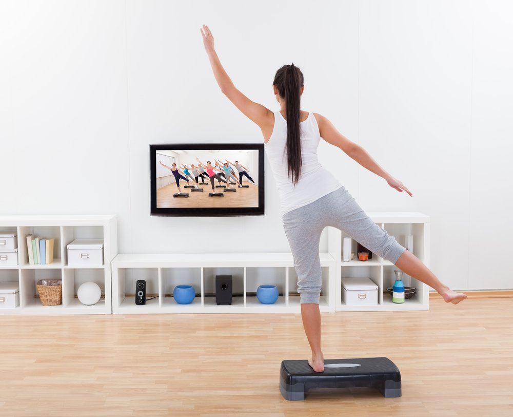 Занятия фитнесом на дому