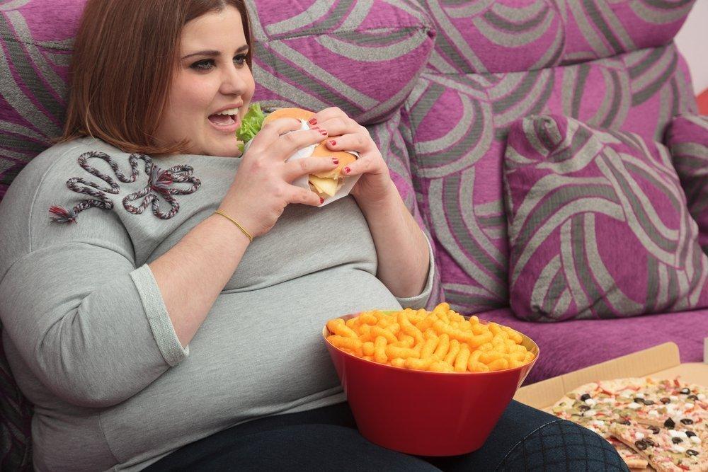 Фото толстухи с едой