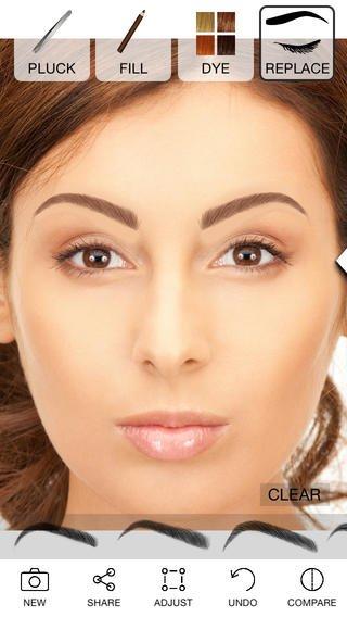 4. Коррекция бровей с Eyebrows By ModiFace Источник: a3.mzstatic.com