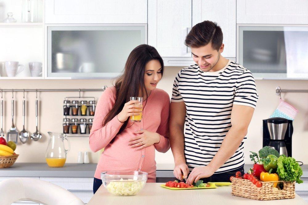 Правила питания во втором триместре беременности
