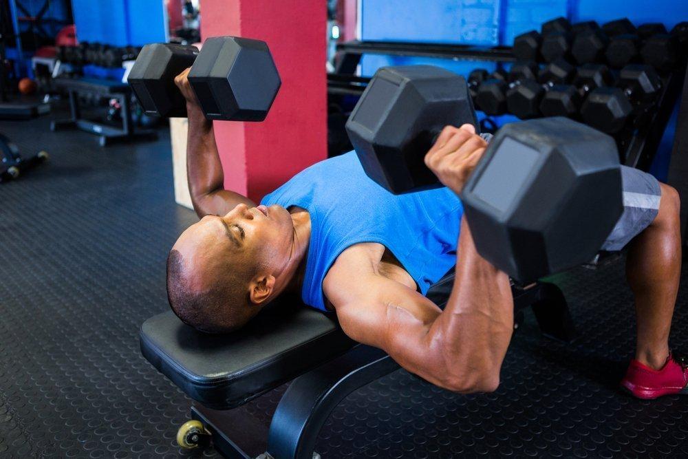 Основные упражнения с гантелями