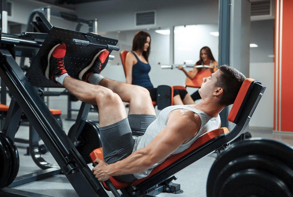 Пример занятия фитнесом для тренажерного зала