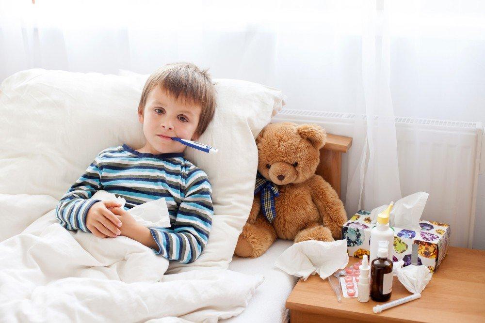 Если у детей температура