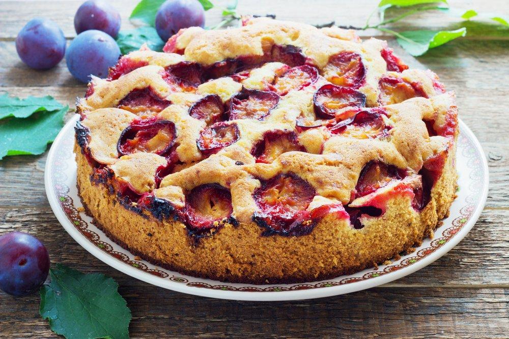 Сливовый пирог от Юлии Высоцкой