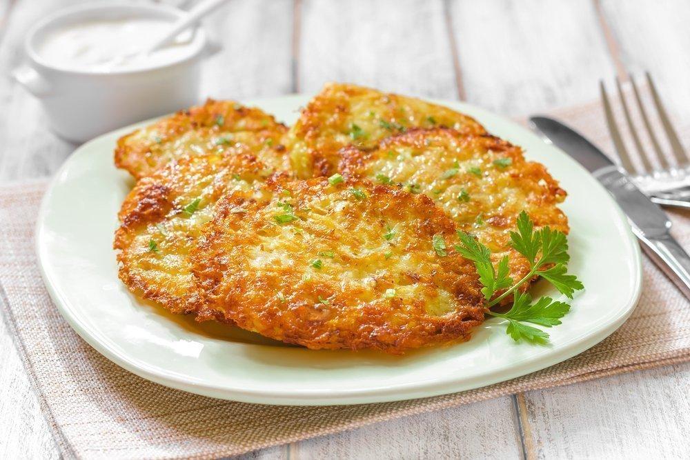 Рецепт полезных картофельных оладьев