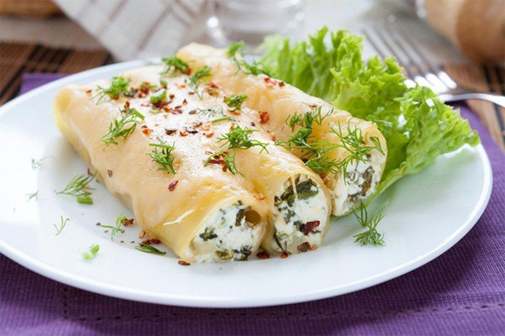Каннеллони с сыром