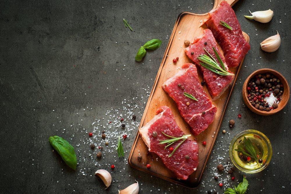 Красное мясо: полноценные белки