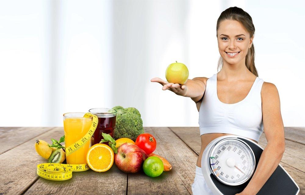 Овощи и несладкие фрукты — основа рациона