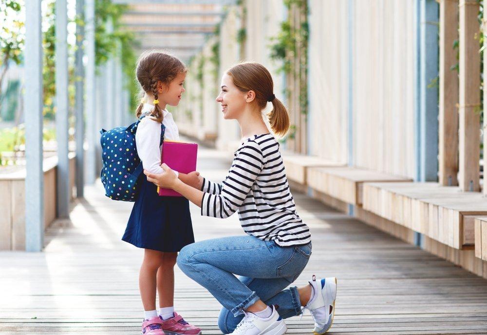 Родители и дети-школьники