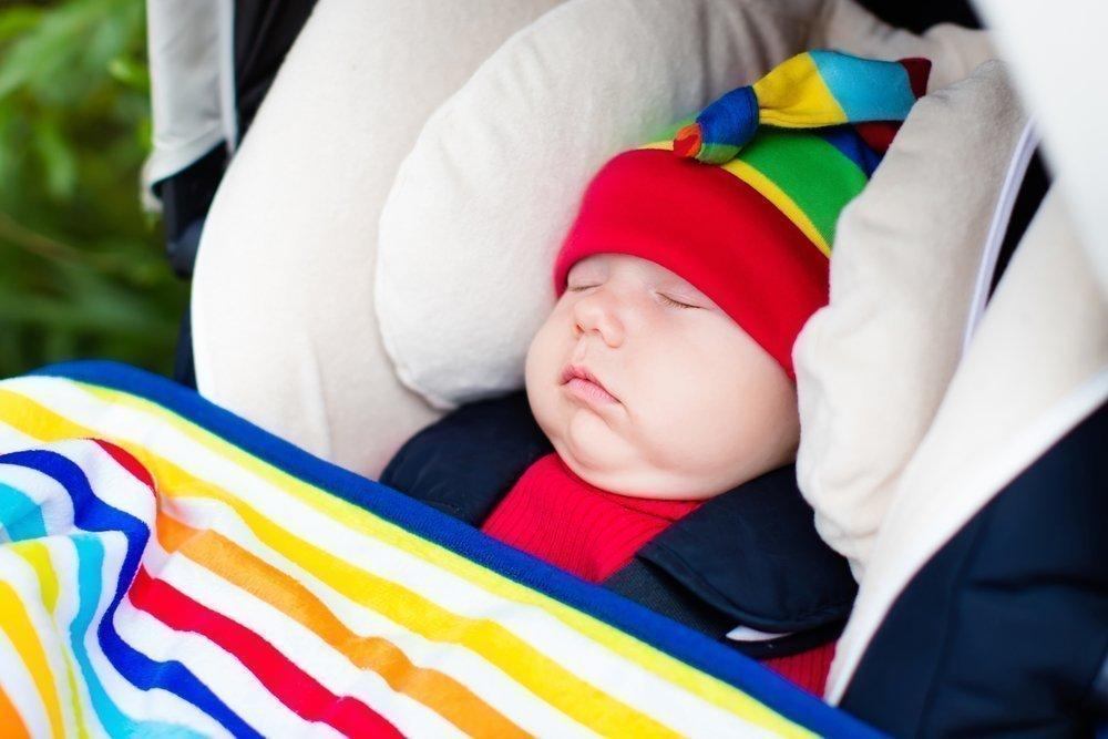 Подголовник и плед для ребенка в автокресле