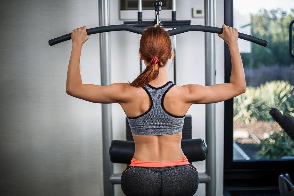 В фитнес клубе тренажер для похудения