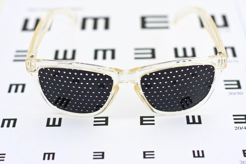 Перфорированные очки – профилактика миопии