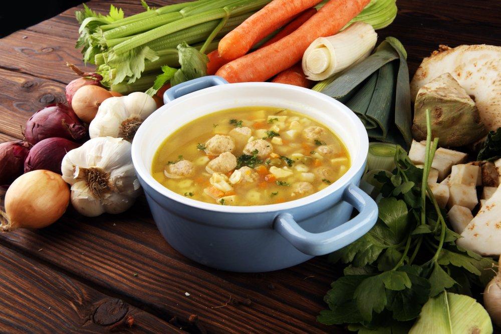 Классический рецепт супа с клецками