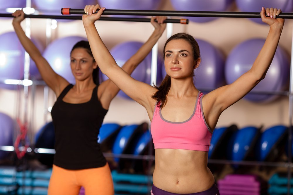Бодибар для фитнес-тренировок