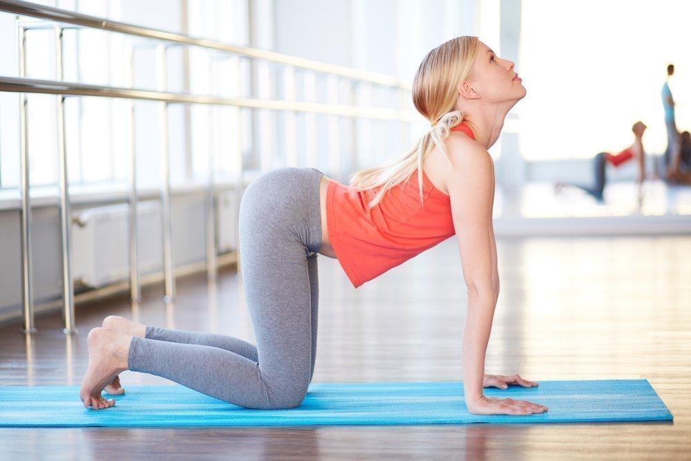 Растяжка позвонков при помощи фитнес-упражнений