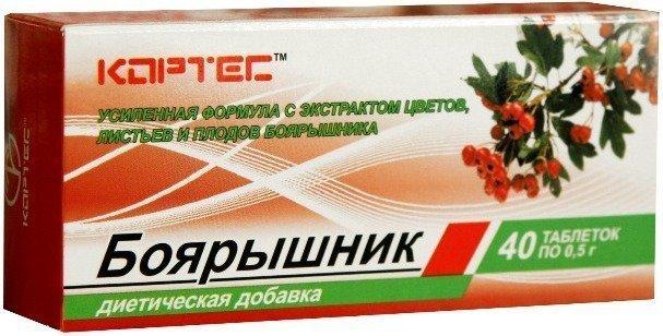 Настойка боярышника, таблетки с экстрактом боярышника