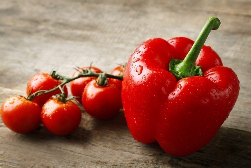 9. Фрукты и овощи красного цвета