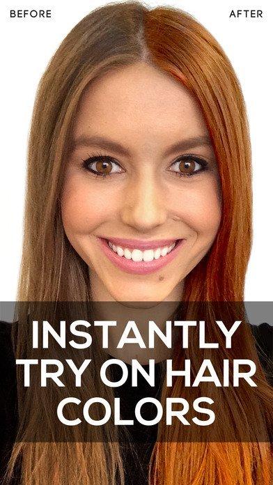 7. Hair Color — меняйте цвет волос без риска Источник: a4.mzstatic.com