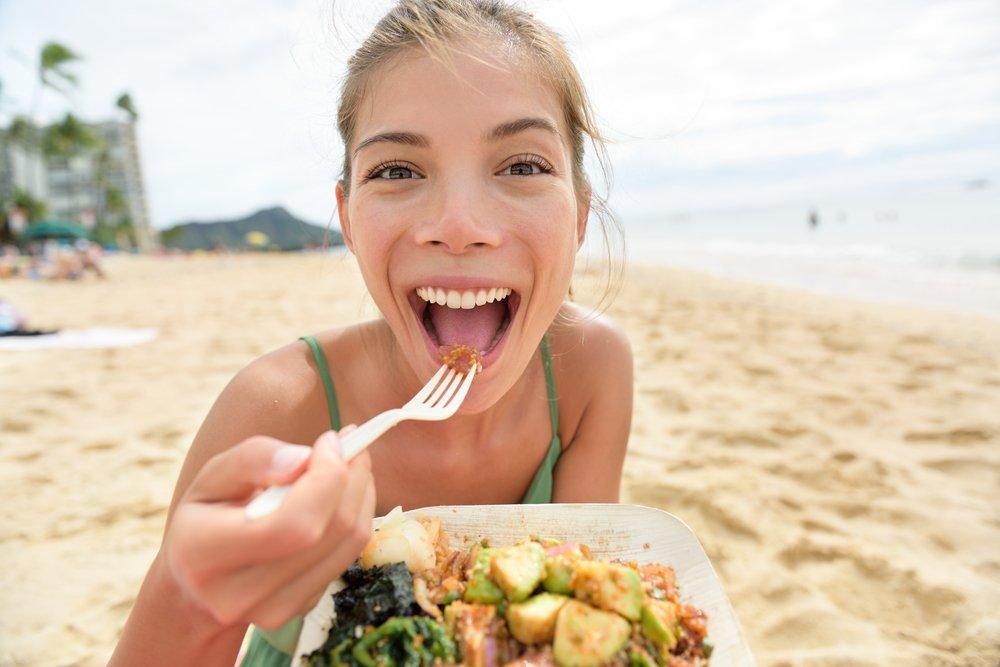 Ошибка 6: Еда на пляже