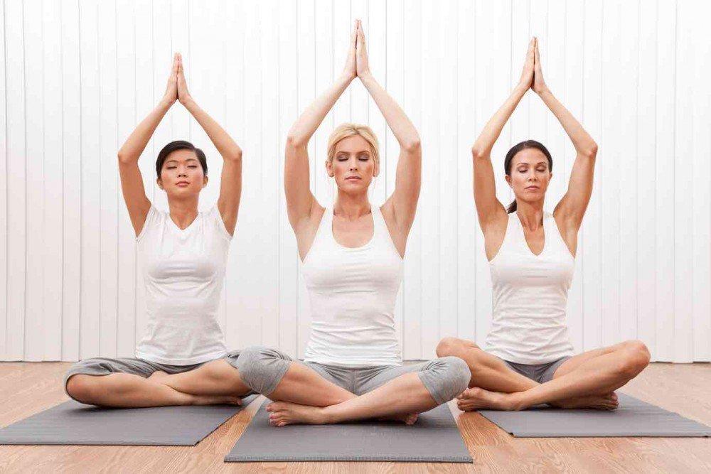 Начальный этап практики йоги: вращение, сокращение мышц