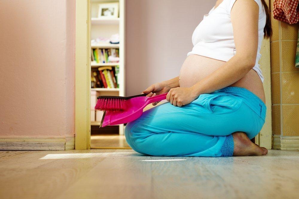 Беременность болит спина после уборки