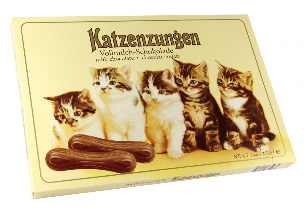 Шоколадные язычки котят