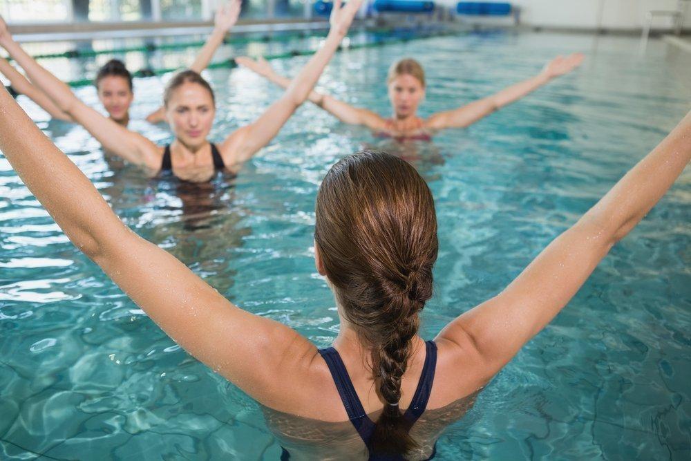 Правила выполнения упражнений в воде