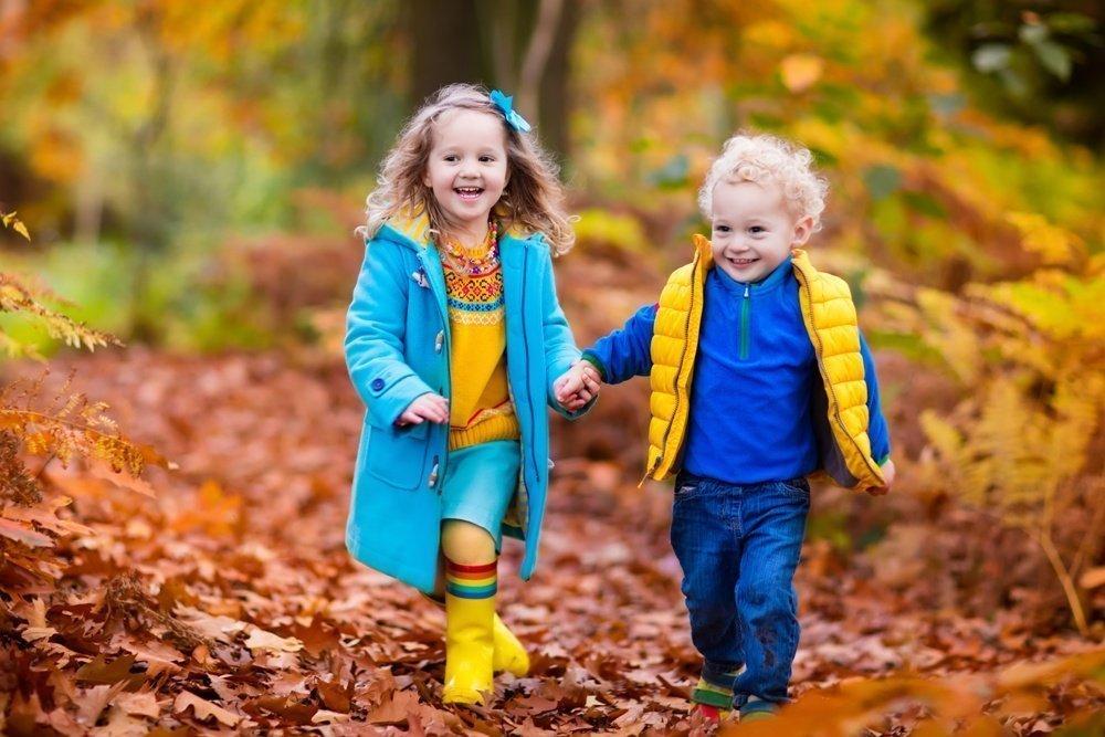 Дети гуляют в любую погоду