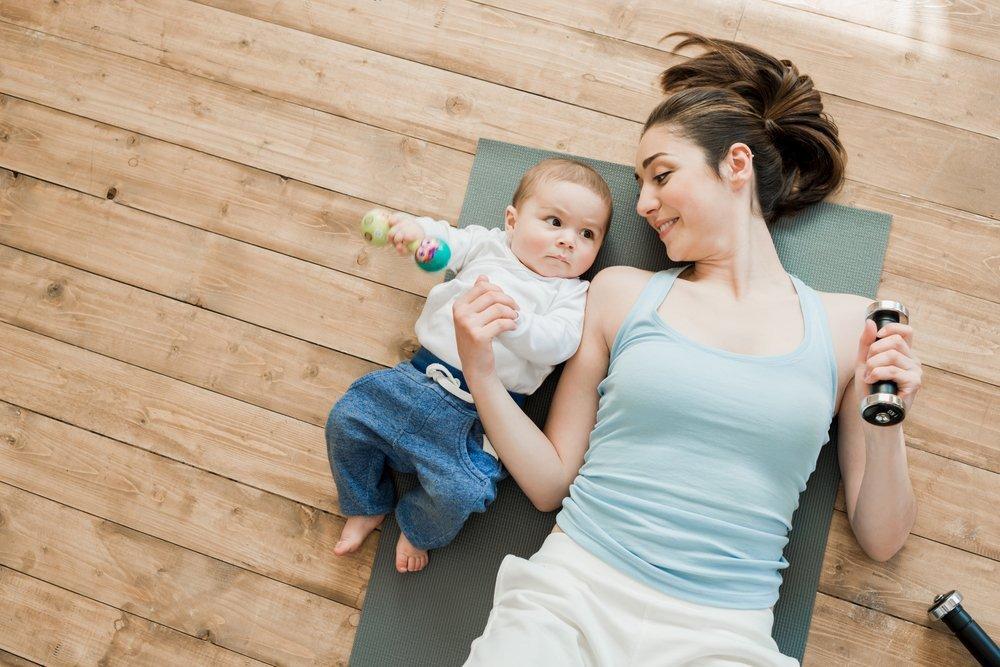 Совместные упражнения с ребенком