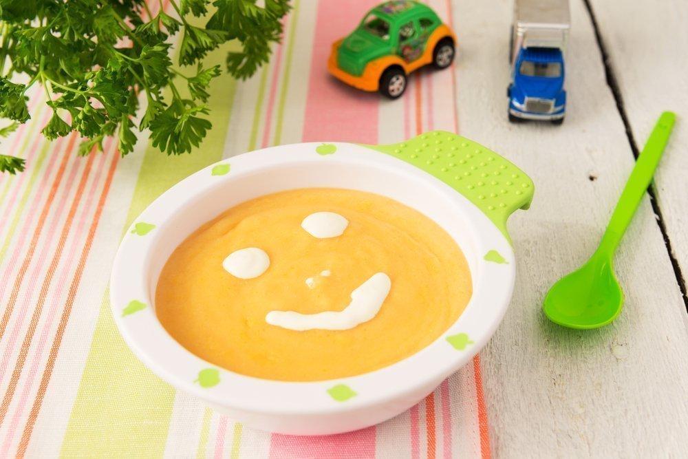 Детский крем-суп из смеси овощей