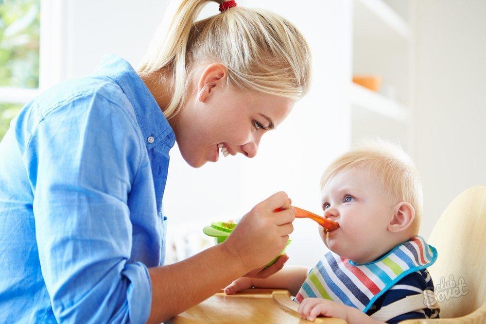 Питание детей с шести месяцев до года