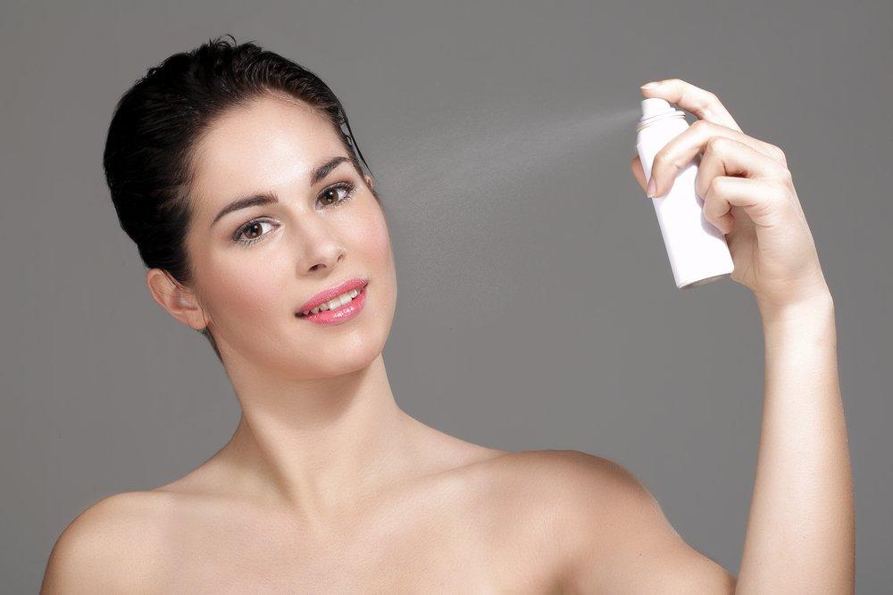 Термальная вода после нанесения макияжа