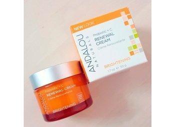 Восстанавливающий крем, пробиотик + витамин С, улучшающий цвет лица, Andalou Naturals